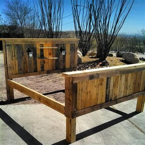how to make a pallet bed frame 58 best images about headboards on pinterest barn wood headboard rustic headboards