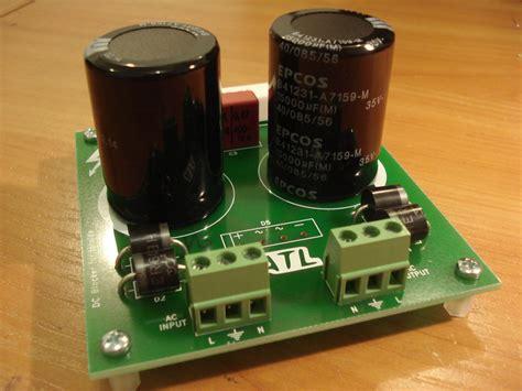 dc blocking capacitor speaker dc blocker trap filter populated pcb atl hi fi audio company