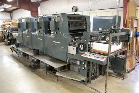 lot 22 1984 heidelberg mov 19x25 4 color press wirebids