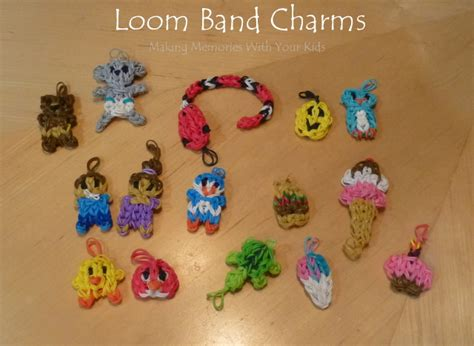 loom band charms memories with your