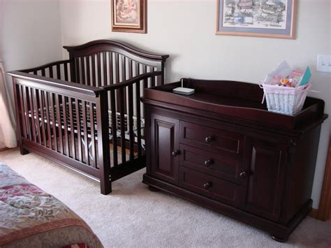 brown crib with changing table crib changing table dresser set home furniture design
