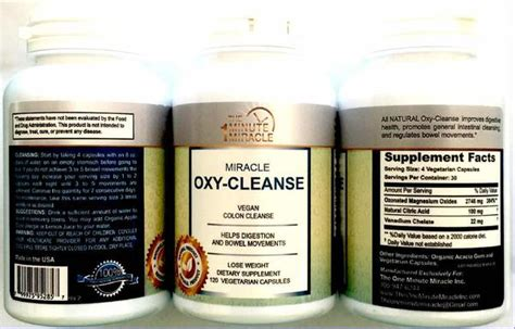 Occidental Detox Ultimate by Miracle Oxy Cleanse Colon Cleanser Detox The One Minute