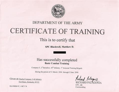 combat lifesaver certificate template combat lifesaver certificate template army certificate of