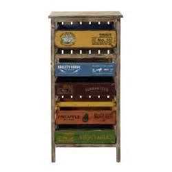 meuble de rangement en bois multicolore h 99 cm sergio