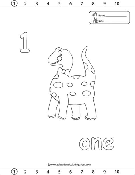 Number 1 Coloring Pages For Preschoolers by 123 Coloring Pages Educational Coloring Pages