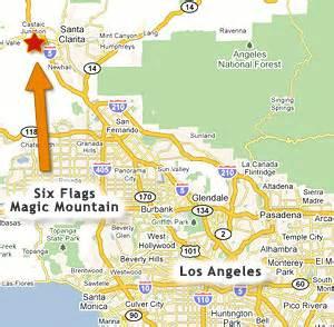 map valencia california six flags magic mountain santa clarita