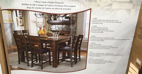 costco counter height dining table universal furniture broadmoore 9pc counter height dining