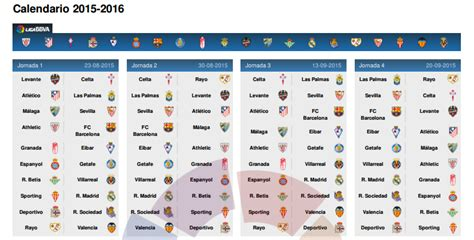 Calendrier Liga Santander Search Results For Calendrier Liga 2015 2016 Real Madrid