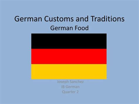 ppt german customs and traditions german food powerpoint