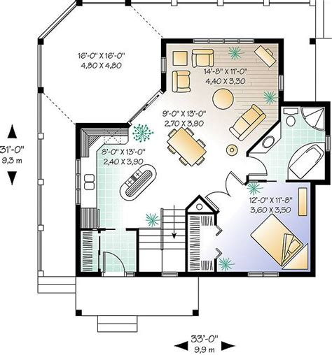 small cabin plans with basement the trail seeker 1 1145 1 bedroom and 1 5 baths the