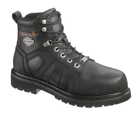 black motorcycle boots for harley davidson s chad steel toe 5 in black motorcycle