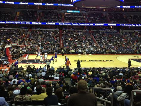 verizon center section 121 knickerbockers fans in d c verizon center section 121
