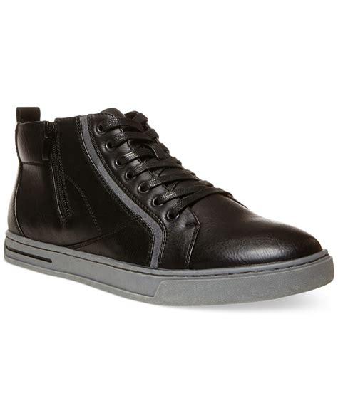 steve madden sneakers lyst steve madden s danver hi top sneakers in black
