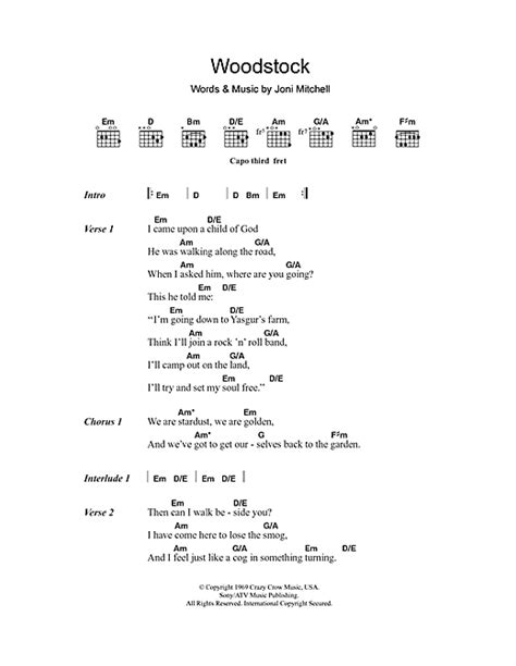 Comfort Eagle Chords by Woodstock Sheet By Matthews Southern Comfort Lyrics