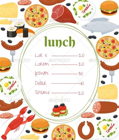 Lunch Menu Templates 31 Free Word Pdf Psd Eps Indesign Format Download Free Premium Luncheon Flyer Template