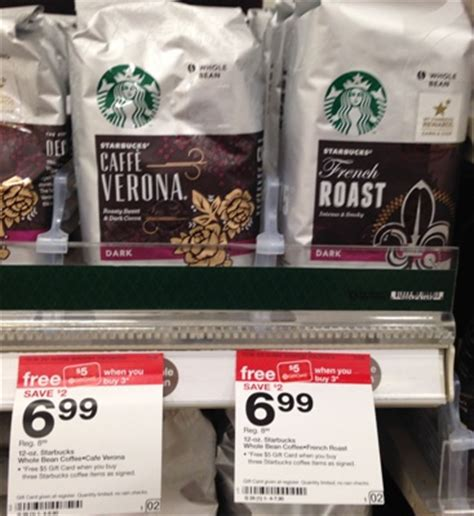 Target Gift Card At Starbucks - target starbucks french roast coffee 1 90 all things target