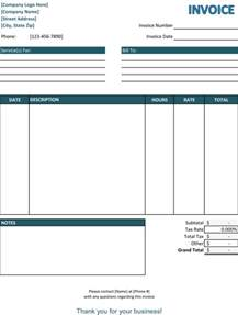 services invoice template 5 service invoice templates for word and excel 174