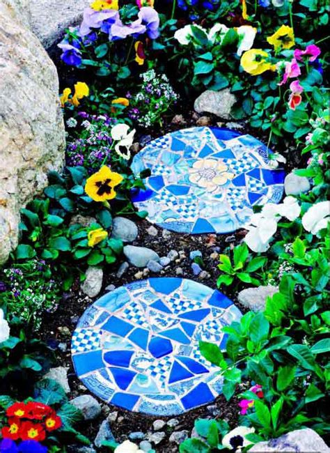 stunning mosaic projects   garden architecture