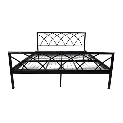 queen size metal bed frame shop single bed