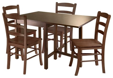 Drop Leaf Dining Table Set by Winsome 5 Pc Drop Leaf Table Set Dining Sets Houzz