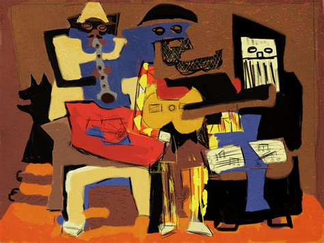 picasso paintings three musicians painting of picasso s three musicians through the