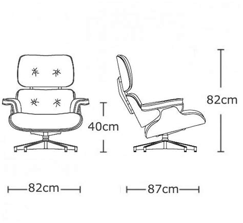 Eames Lounge Chair Dimensions by The Remarkable Eames Chair Dimensions With Eames Style