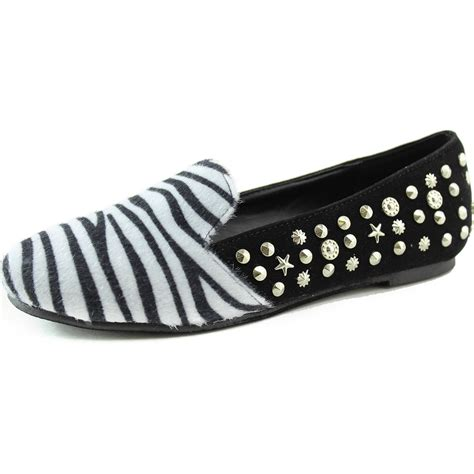 zebra flats shoes flats zebra print front black back gold charms studs