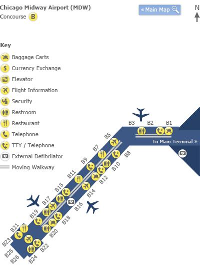 chicago midway map chicago midway airport map my
