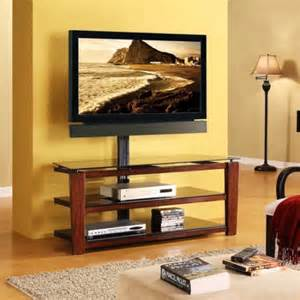 whalen swivel 3 in 1 tv stand for tvs up to 60 quot brown