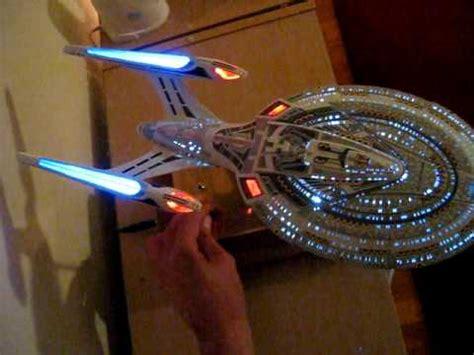 starship enterprise model with lights star trek starship enterprise ncc 1701 e custom built