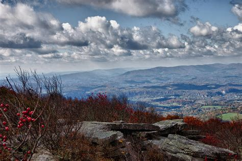 Bald Knob Va by Bald Knob Overlook Of The New River Valley Photograph By