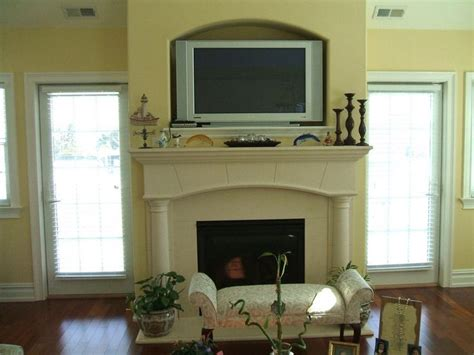Tv The Fireplace Ideas by Tv Quot Cubby Quot Above Fireplace Fireplaces Mantels