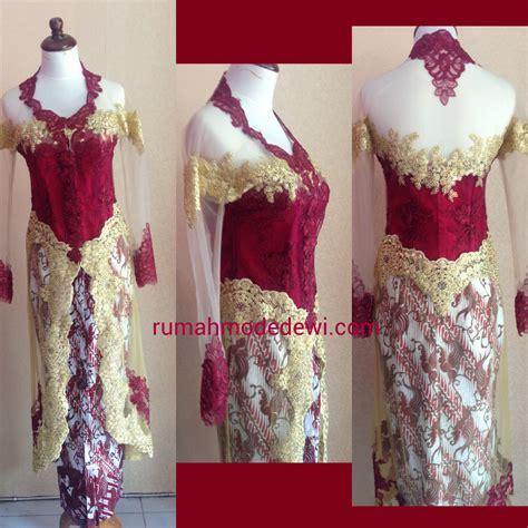 Kebaya Gaun Mahany Maroon Gaun Pesta inspirasi kebaya warna merah maroon yang mewah gebeet
