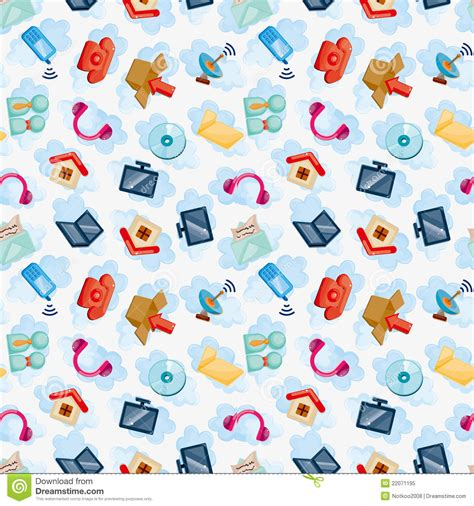 seamless network pattern icons for cloud network seamless pattern royalty free
