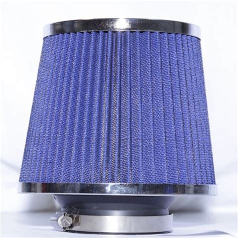 Filter Udara Universal Blue 3 quot cold air intake filter turbo application universal blue
