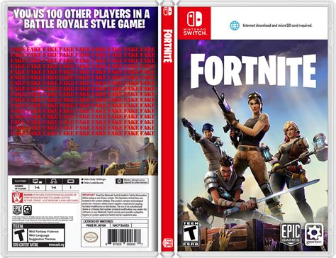fortnite switch fortnite nintendo switch box concept nintendoswitch