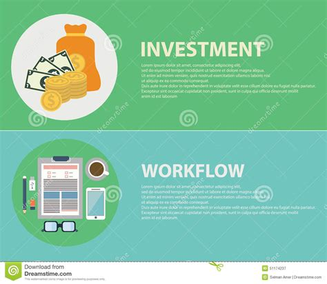 workflow consulting flat design concepts for business finance stock vector