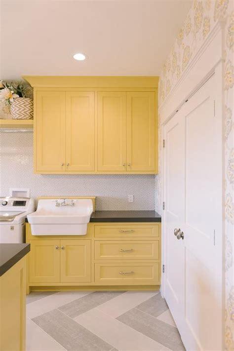 yellow laundry room yellow laundry room cabinets design ideas