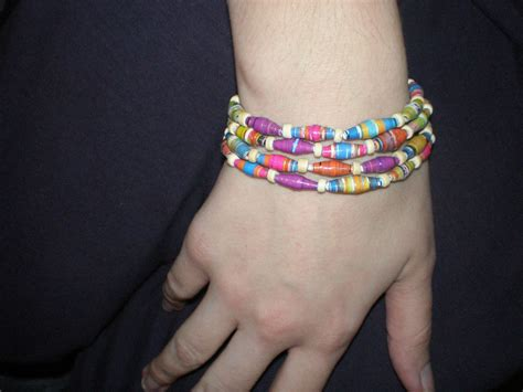 How To Make Paper Bead Bracelets - make a recycled paper bead bracelet 6 steps with pictures