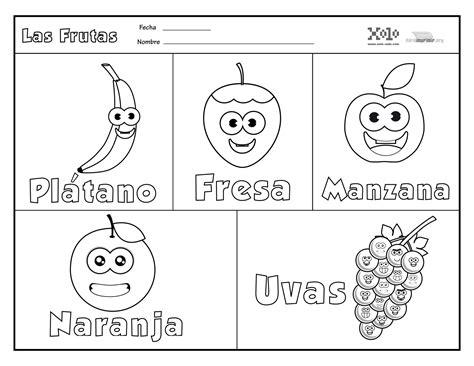 da clic para ver en grande e imprimir frutas en espa 241 ol para colorear y para imprimir