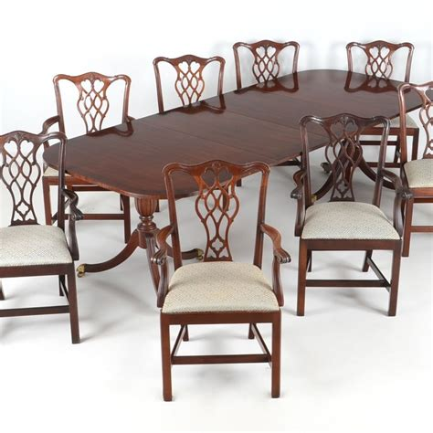council craftsman dining table   chairs ebth