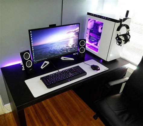 Computer Desk Setup 25 Best Ideas About Pc Gaming Setup On Gaming Setup Computer Setup And Pc Setup