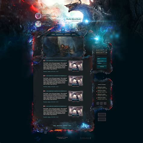 design game web dragon game web template