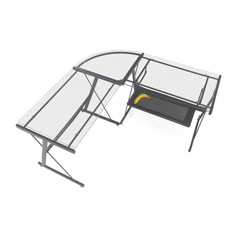 57 office max l shape glass desk tables