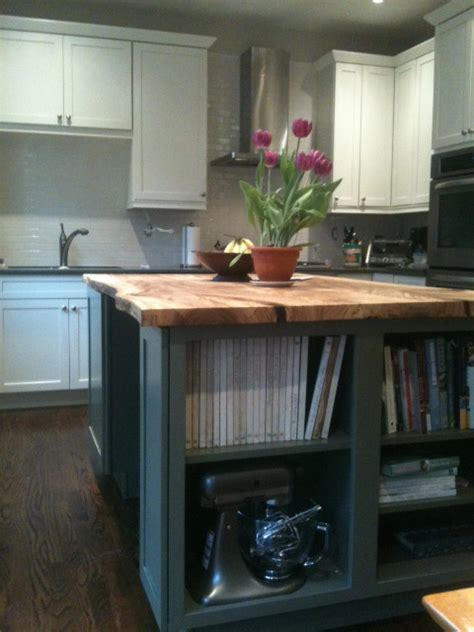 reclaimed live edge elm slab kitchen island contemporary kitchen toronto by urban tree