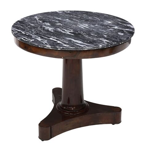 antique marble top pedestal table empire style marble top pedestal occasional table april