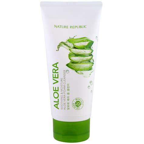 Nature Republic Soothing And Moisture Aloe Vera Foam Cleanser nature republic aloe vera soothing moisture aloe vera