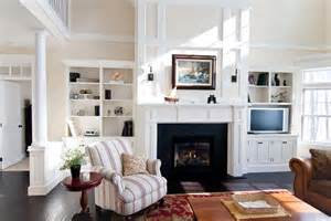 built ins around fireplace living room craftsman with