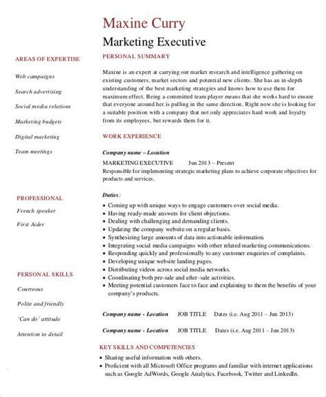 marketing resume 42 free word pdf documents