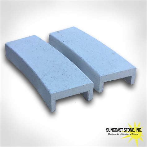 Concrete Wall Caps - ws1 curved concrete wall cap custom made profile